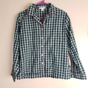 Tommy Hilfiger Plaid Sleep Shirt Size Small E19